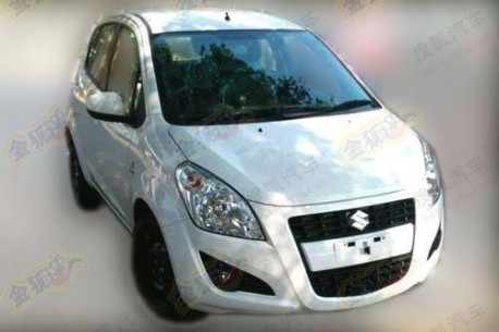 facelifted Suzuki Splash testing in China