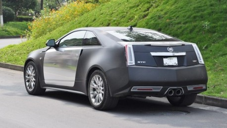 Cadillac Cts Coupe In Matte Black Amp Chrome In China