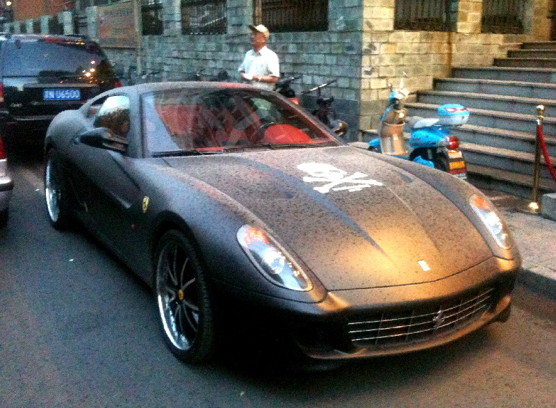 ferrari 599 in matte black from china is a japanese t shirt - Matte Black Ferrari 599