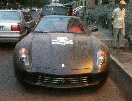 Ferrari 599 in matte-black from China