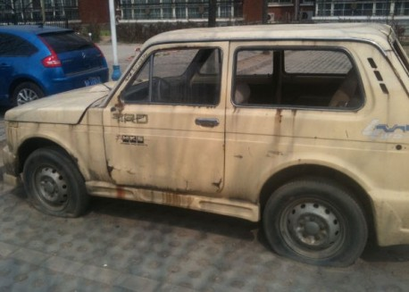 Lada Niva with a body-kit