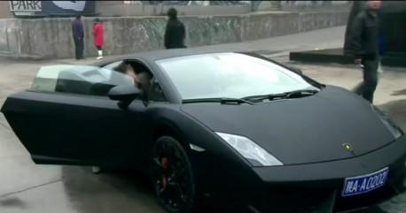 Lamborghini Gallardo in matte-black from China