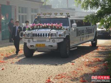 Marriage in the Village in China, the Cars