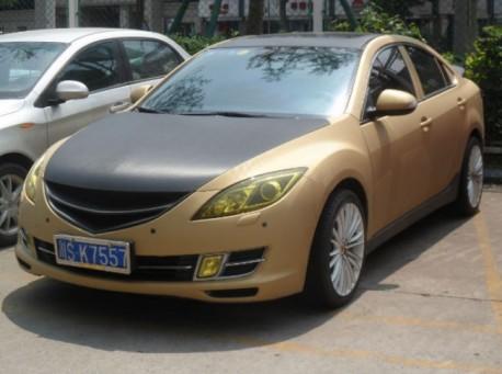 Mazda 6 sedan is very Bling in China