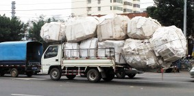 Slightly overloaded truck in China, Part 3