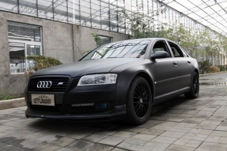 Audi A8L in matte-black from China