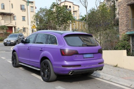 Audi Q7 is very Purple in China