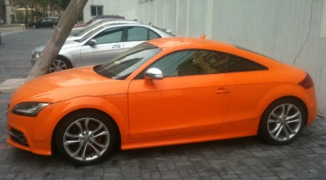Spotted in China: Audi TT is very Orange