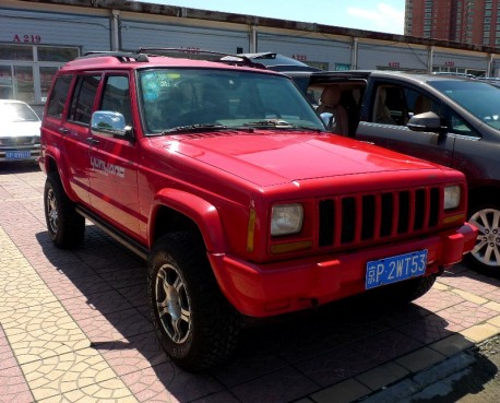 red Beijing-Jeep Cherokee in China
