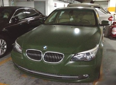 Bmw Green Car Bmw 5-series in Army Green in