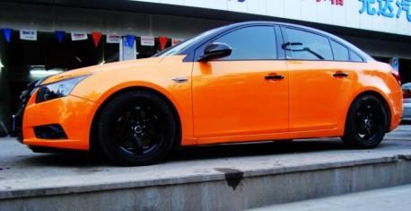 Chevrolet 'M Cruze' is orange & black in China