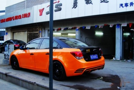 Chevrolet 'M Cruze' is orange & black in China