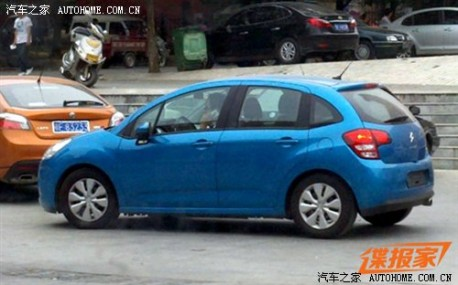 Citroen C3 hanging out in China
