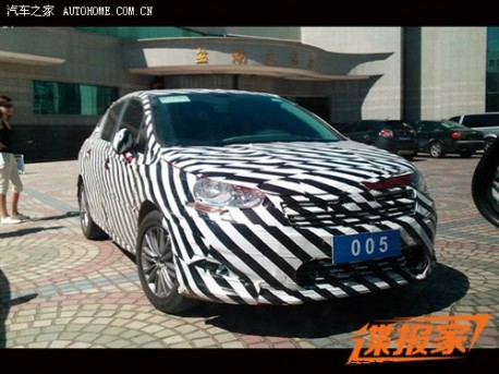 Citroen C4L testing in China