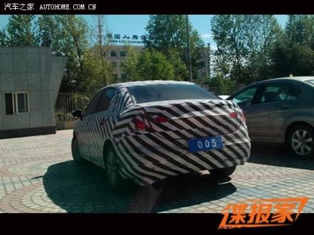 Citroen C4L testing in China