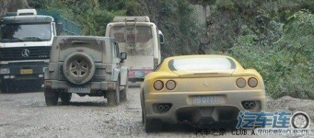 Ferrari 360 gets very Dirty in China