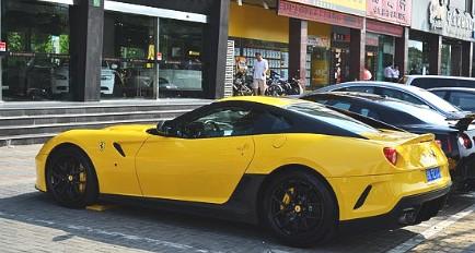 Ferrari 599 GTO in Yellow in China