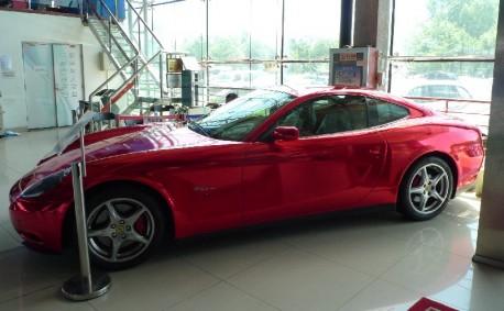 Ferrari 612 Scaglietti in metallic-shiny-red in China