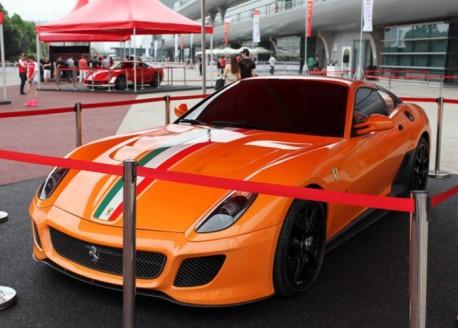Special Edition Ferrari 599 GTO in Orange from China