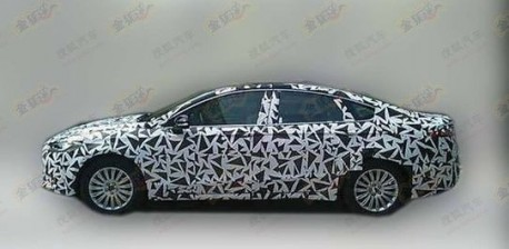 new Ford Mondeo testing in China