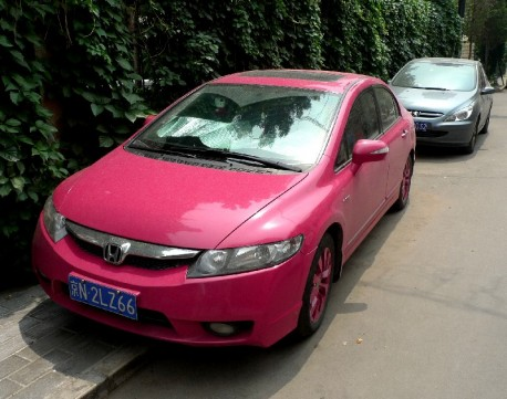Honda Civic sedan in Pink