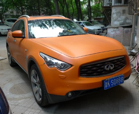 An Infiniti Is Very Orange In China Carnewschina Com