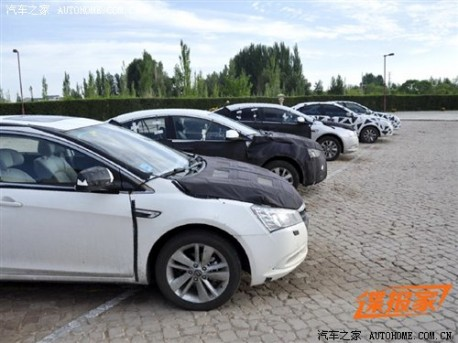 Luxgen 5 sedan testing in China