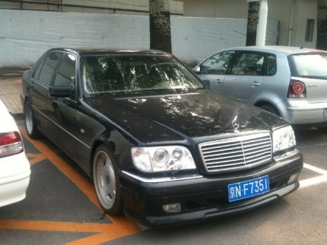 Mercedes-Benz S-class (W140) with a Body Kit