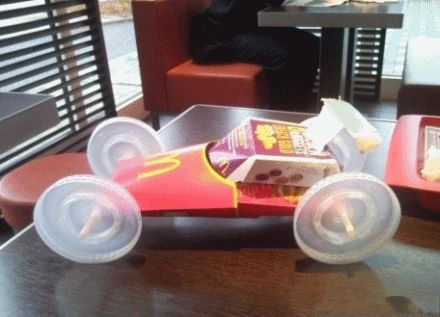 Chinese man makes Race Car in McDonalds