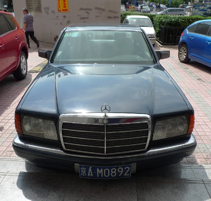 Spotted in china w126 mercedes benz 300se for Mercedes benz china
