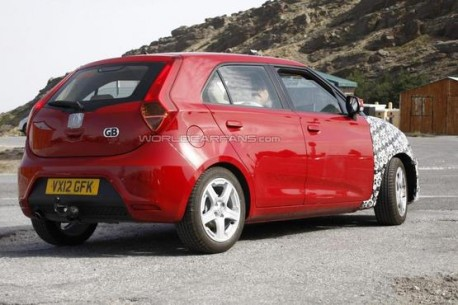 facelifted MG3 testing in the UK