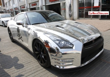Nissan GT-R is a silver Pirate in China