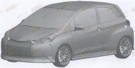 Extreme sporty Toyota Yaris for China