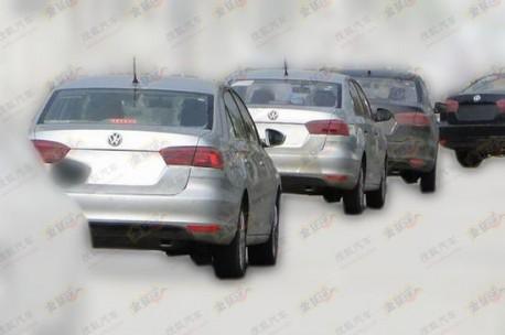 new Volkswagen Santana testing in China