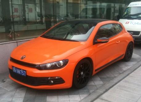 Volkswagen Scirocco is very Orange in China