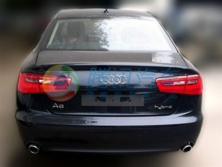 Audi A6 Hybrid testing in China