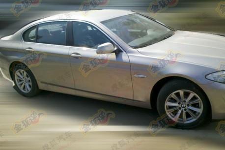 BMW 5Li 2.0 Turbo testing in China