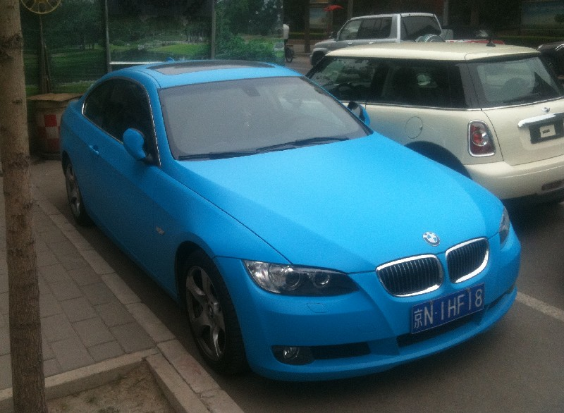 bmw 3 coupe is baby blue in china carnewschina com