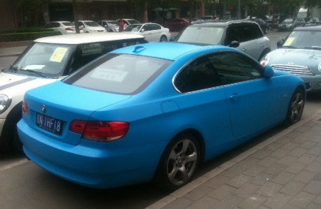 BMW 3 Coupe is baby blue in China