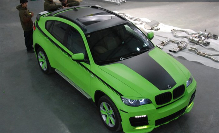 Bmw Green Car Bmw x6 is Matte-lime-green in