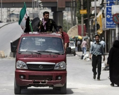 Chang'an minivan at war in Syria