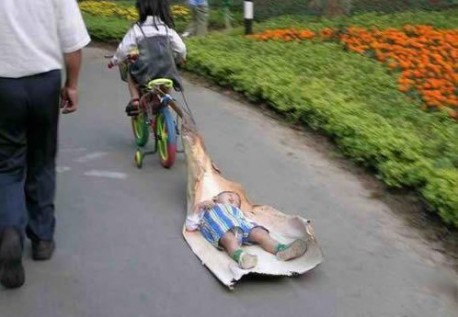 strange things on the road in China