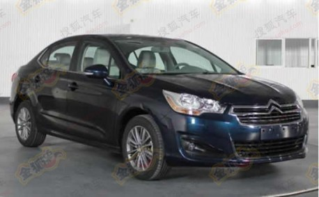 New pictures of the Citroen C4L in China