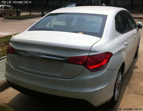 Citroen C4L without camouflage in China