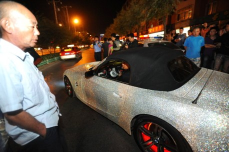 Police in China impounds a too shiny BMW Z4