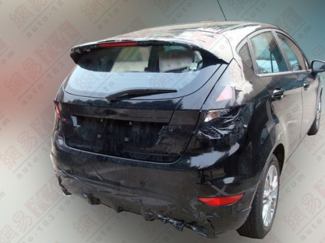 facelifted Ford Fiesta testing in China