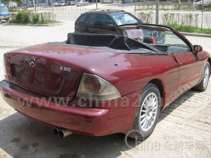 A 1995 Ford Mustang Convertible Thinks It Is Mercedes Benz S320