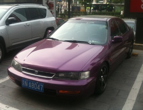 Spotted in China: Honda Accord is Pimped in Purple