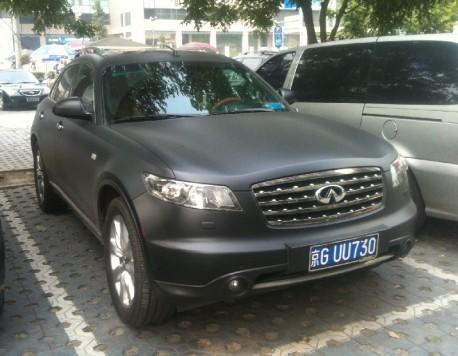 Infiniti FX45 is matte-black in China