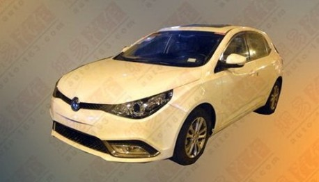 new MG5 turbo testing in China